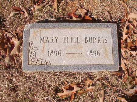 BURRIS, MARY EFFIE - Columbia County, Arkansas | MARY EFFIE BURRIS - Arkansas Gravestone Photos