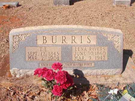 BURRIS, T E - Columbia County, Arkansas   T E BURRIS - Arkansas Gravestone Photos