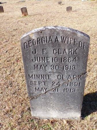 CLARK, GEORGIA A - Columbia County, Arkansas   GEORGIA A CLARK - Arkansas Gravestone Photos