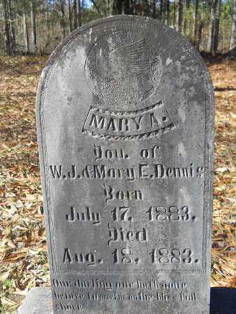 DENNIS, MARY A - Columbia County, Arkansas | MARY A DENNIS - Arkansas Gravestone Photos