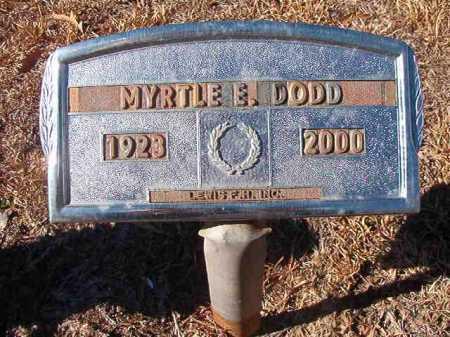 DODD, MYRTLE E - Columbia County, Arkansas | MYRTLE E DODD - Arkansas Gravestone Photos