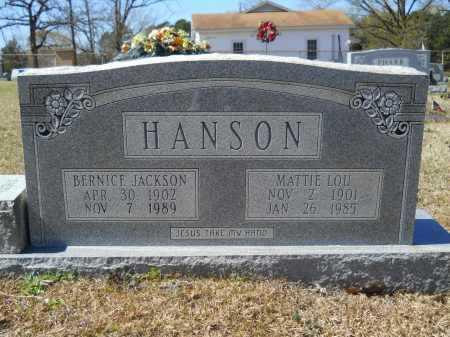 HANSON, BERNICE JACKSON - Columbia County, Arkansas | BERNICE JACKSON HANSON - Arkansas Gravestone Photos