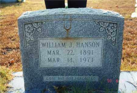 HANSON, WILLIAM J. - Columbia County, Arkansas   WILLIAM J. HANSON - Arkansas Gravestone Photos
