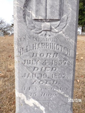 HARRINGTON, HAMILTON L (CLOSE UP) - Columbia County, Arkansas   HAMILTON L (CLOSE UP) HARRINGTON - Arkansas Gravestone Photos