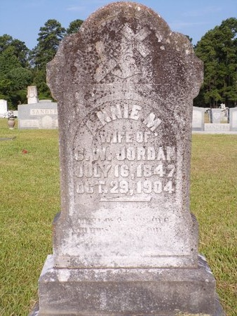 JORDAN, ANNIE MATILDA - Columbia County, Arkansas   ANNIE MATILDA JORDAN - Arkansas Gravestone Photos
