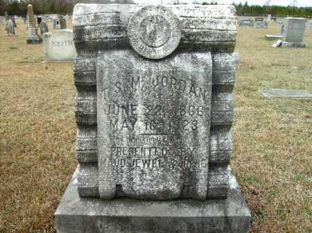 JORDAN, T S M - Columbia County, Arkansas   T S M JORDAN - Arkansas Gravestone Photos