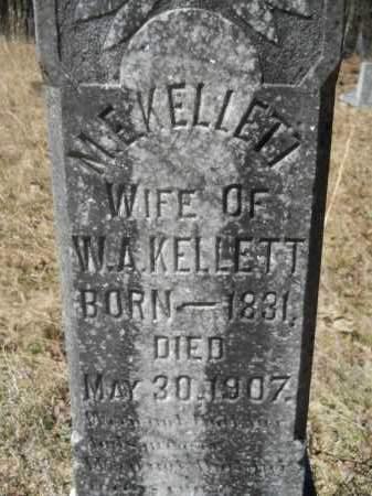 KELLETT, M E (CLOSEUP) - Columbia County, Arkansas | M E (CLOSEUP) KELLETT - Arkansas Gravestone Photos