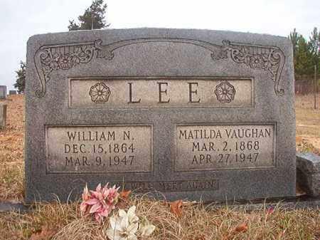 LEE, WILLIAM N - Columbia County, Arkansas   WILLIAM N LEE - Arkansas Gravestone Photos