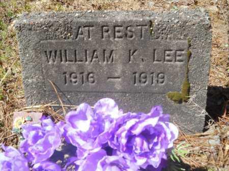 LEE, WILLIAM K - Columbia County, Arkansas   WILLIAM K LEE - Arkansas Gravestone Photos