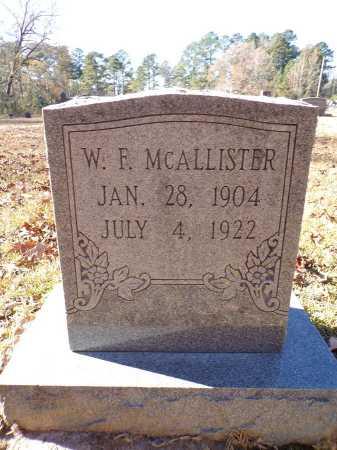 MCALLISTER, W F - Columbia County, Arkansas   W F MCALLISTER - Arkansas Gravestone Photos