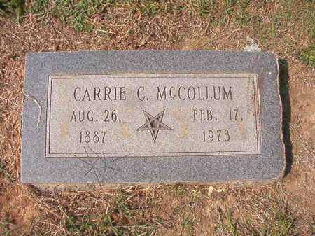 MCCOLLUM, CARRIE - Columbia County, Arkansas | CARRIE MCCOLLUM - Arkansas Gravestone Photos