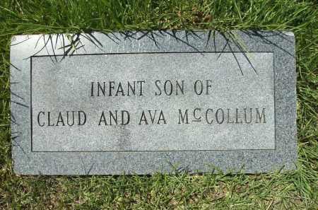 MCCOLLUM, INFANT SON - Columbia County, Arkansas | INFANT SON MCCOLLUM - Arkansas Gravestone Photos