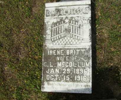 MCCOLLUM, IRENE - Columbia County, Arkansas | IRENE MCCOLLUM - Arkansas Gravestone Photos