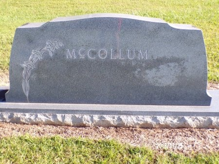 MCCOLLUM, MEMORIAL - Columbia County, Arkansas | MEMORIAL MCCOLLUM - Arkansas Gravestone Photos