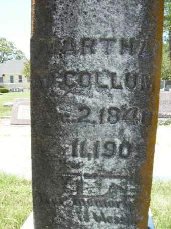MCCOLLUM, MARTHA - Columbia County, Arkansas | MARTHA MCCOLLUM - Arkansas Gravestone Photos