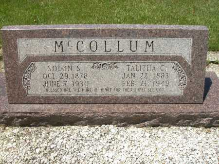 MCCOLLUM, SOLON S - Columbia County, Arkansas | SOLON S MCCOLLUM - Arkansas Gravestone Photos