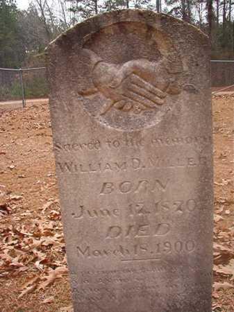MILLER, WILLIAM D - Columbia County, Arkansas | WILLIAM D MILLER - Arkansas Gravestone Photos