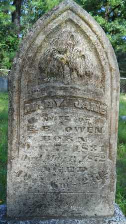 OWEN, MARY JANE - Columbia County, Arkansas | MARY JANE OWEN - Arkansas Gravestone Photos