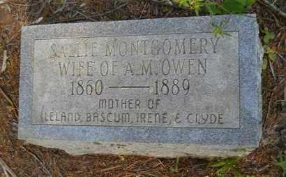 MONTGOMERY OWEN, SALLIE - Columbia County, Arkansas | SALLIE MONTGOMERY OWEN - Arkansas Gravestone Photos