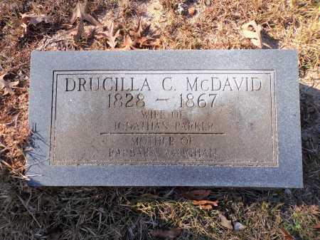 MCDAVID PARKER, DRUCILLA C - Columbia County, Arkansas | DRUCILLA C MCDAVID PARKER - Arkansas Gravestone Photos