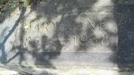 PEARCE, MARY JANE (CLOSEUP) - Columbia County, Arkansas   MARY JANE (CLOSEUP) PEARCE - Arkansas Gravestone Photos