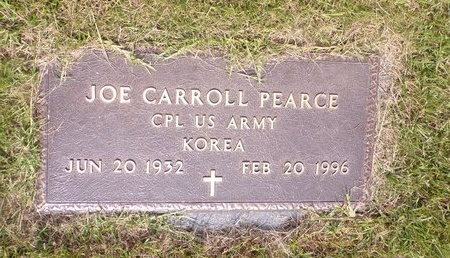 PEARCE (VETERAN KOR), JOE CARROLL - Columbia County, Arkansas | JOE CARROLL PEARCE (VETERAN KOR) - Arkansas Gravestone Photos