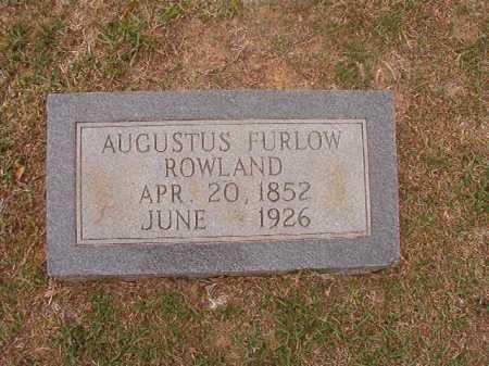 ROWLAND, AUGUSTUS FURLOW - Columbia County, Arkansas | AUGUSTUS FURLOW ROWLAND - Arkansas Gravestone Photos