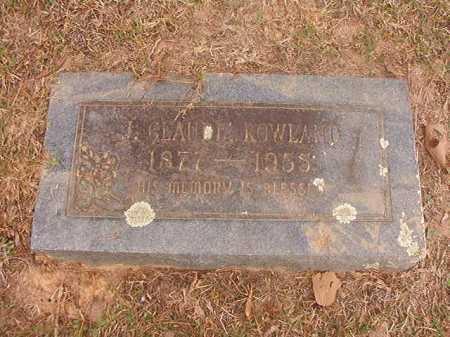 ROWLAND, J CLAUDE - Columbia County, Arkansas | J CLAUDE ROWLAND - Arkansas Gravestone Photos