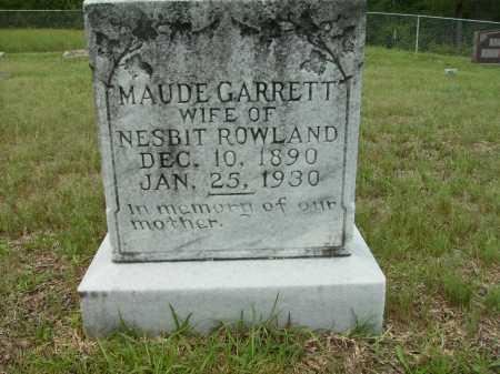ROWLAND, MAUDE - Columbia County, Arkansas | MAUDE ROWLAND - Arkansas Gravestone Photos