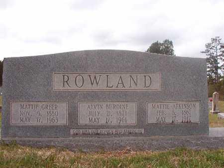 ROWLAND, MATTIE - Columbia County, Arkansas | MATTIE ROWLAND - Arkansas Gravestone Photos