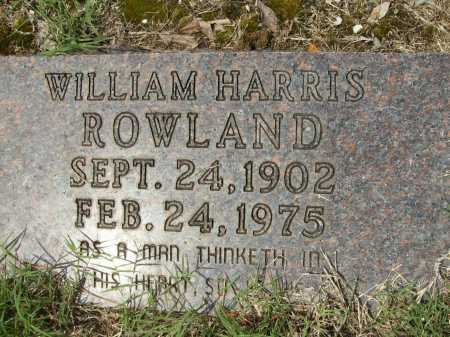 ROWLAND, WILLIAM HARRIS - Columbia County, Arkansas | WILLIAM HARRIS ROWLAND - Arkansas Gravestone Photos