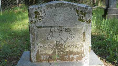 WARREN, E S - Columbia County, Arkansas | E S WARREN - Arkansas Gravestone Photos