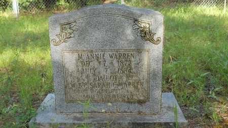 WARREN, M ANNIE - Columbia County, Arkansas   M ANNIE WARREN - Arkansas Gravestone Photos