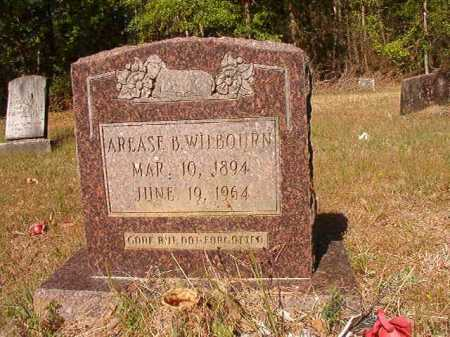 WILBOURN, AREASE B - Columbia County, Arkansas | AREASE B WILBOURN - Arkansas Gravestone Photos
