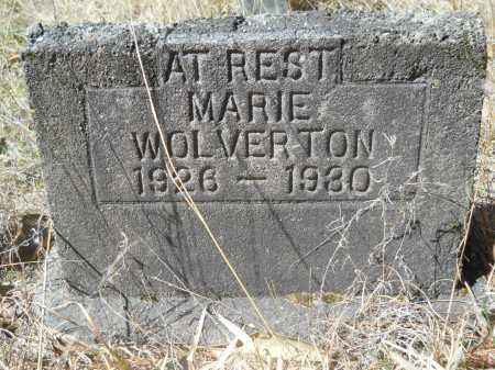 WOLVERTON, MARIE - Columbia County, Arkansas | MARIE WOLVERTON - Arkansas Gravestone Photos