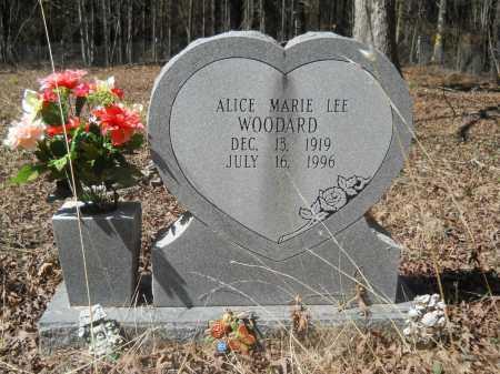 LEE WOODARD, ALICE MARIE - Columbia County, Arkansas   ALICE MARIE LEE WOODARD - Arkansas Gravestone Photos