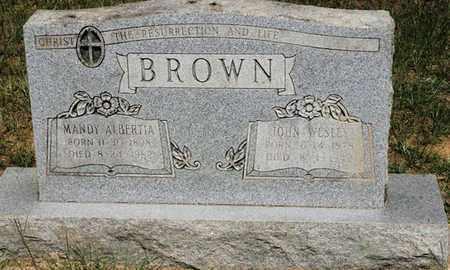 BROWN, JOHN WESLEY - Conway County, Arkansas | JOHN WESLEY BROWN - Arkansas Gravestone Photos