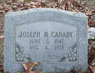 CANADY, JOSEPH M - Conway County, Arkansas   JOSEPH M CANADY - Arkansas Gravestone Photos