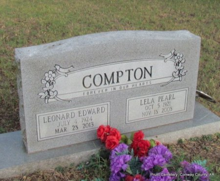 COMPTON, LEONARD EDWARD - Conway County, Arkansas | LEONARD EDWARD COMPTON - Arkansas Gravestone Photos