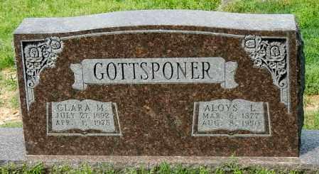 GOTTSPONER, ALOYS L - Conway County, Arkansas | ALOYS L GOTTSPONER - Arkansas Gravestone Photos