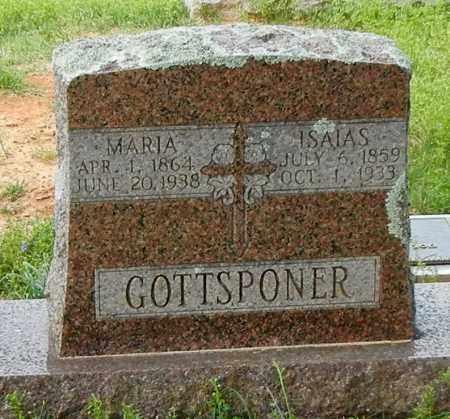 GOTTSPONER, ISAIAS - Conway County, Arkansas | ISAIAS GOTTSPONER - Arkansas Gravestone Photos