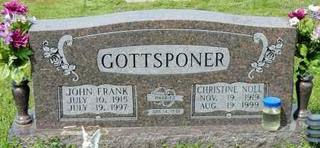 GOTTSPONER, CHRISTINE CECILIA - Conway County, Arkansas | CHRISTINE CECILIA GOTTSPONER - Arkansas Gravestone Photos