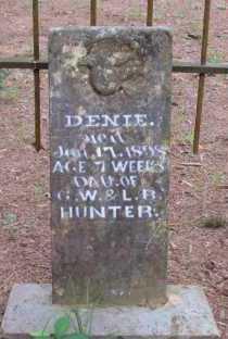 HUNTER, DENIE (CLOSE UP) - Conway County, Arkansas | DENIE (CLOSE UP) HUNTER - Arkansas Gravestone Photos