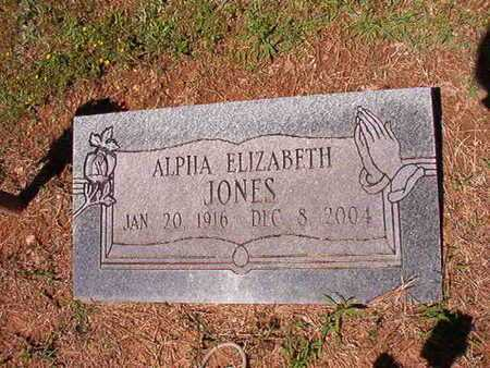 JONES, ALPHA ELIZABETH - Conway County, Arkansas | ALPHA ELIZABETH JONES - Arkansas Gravestone Photos