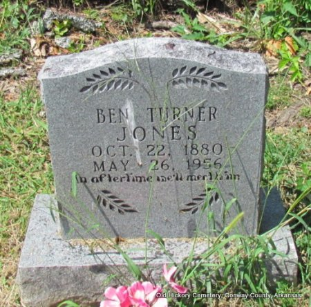JONES, BEN TURNER - Conway County, Arkansas | BEN TURNER JONES - Arkansas Gravestone Photos