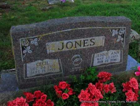 JONES, JENNIE ANN - Conway County, Arkansas | JENNIE ANN JONES - Arkansas Gravestone Photos