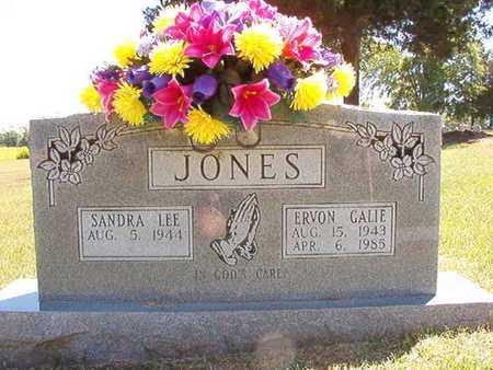 JONES, ERVON GALIE - Conway County, Arkansas | ERVON GALIE JONES - Arkansas Gravestone Photos
