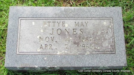 JONES, ETTYE MAY - Conway County, Arkansas | ETTYE MAY JONES - Arkansas Gravestone Photos