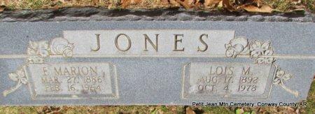 JONES, LOIS M - Conway County, Arkansas | LOIS M JONES - Arkansas Gravestone Photos