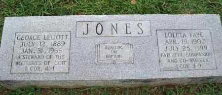 JONES, GEORGE ELLIOTT - Conway County, Arkansas | GEORGE ELLIOTT JONES - Arkansas Gravestone Photos
